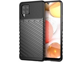 Samsung Galaxy A42 5G Stripes Anti Shock Case Hülle flexibel schwarz