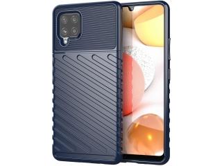 Samsung Galaxy A42 5G Stripes Anti Shock Case Hülle flexibel navy blau