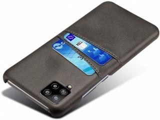 Samsung Galaxy A42 5G Leder Case Hülle für Bank Kreditkarten schwarz
