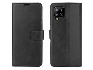 Samsung Galaxy A42 5G Leder Hülle Karten Ledertasche night black