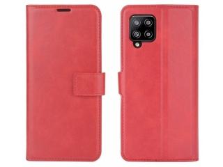 Samsung Galaxy A42 5G Leder Hülle Karten Ledertasche rot