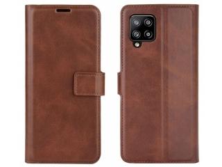 Samsung Galaxy A42 5G Leder Hülle Karten Ledertasche mokka braun