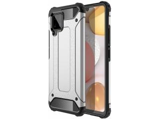 Samsung Galaxy A42 5G Outdoor Hardcase Soft Inlay Sport Case silber