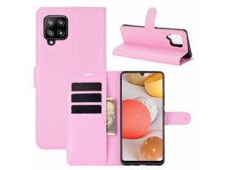Samsung Galaxy A42 5G Leder Hülle Karten Ledertasche rosa