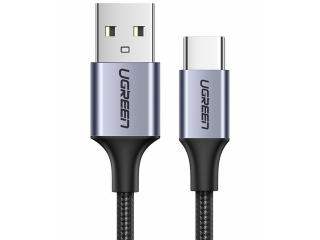 UGREEN USB-C Extra Kurz Ladekabel QC3.0 Fast Charge 25cm Nylon schwarz