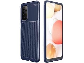 Samsung Galaxy A52 Carbon Design Hülle TPU Case flexibel navy blau