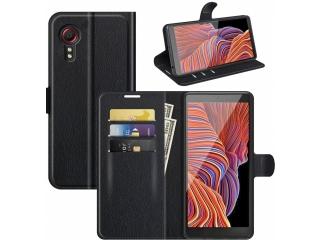 Samsung Galaxy XCover 5 Lederhülle Kartenhülle Ledertasche schwarz