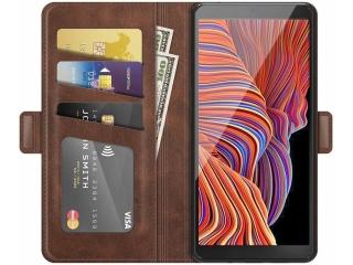 Samsung Galaxy XCover 5 Leder Hülle Karten Ledertasche mokka braun