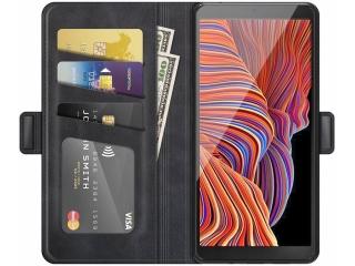 Samsung Galaxy XCover 5 Leder Hülle Karten Ledertasche schwarz