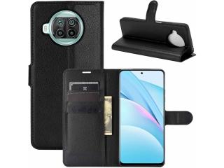 Xiaomi Mi 10T Lite Lederhülle Portemonnaie Karten Ledertasche schwarz