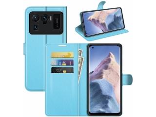 Xiaomi Mi 11 Ultra Lederhülle Portemonnaie Karten Ledertasche hellblau