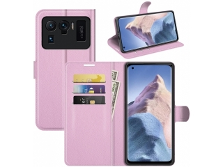 Xiaomi Mi 11 Ultra Lederhülle Portemonnaie Karten Ledertasche rosa