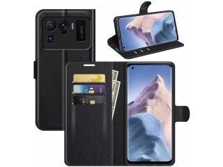 Xiaomi Mi 11 Ultra Lederhülle Portemonnaie Karten Ledertasche schwarz