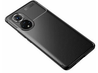 Honor 50 Carbon Design Hülle TPU Case flexibel schwarz