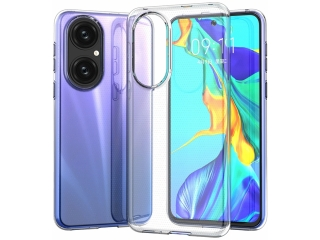 Huawei P50 Gummi Hülle flexibel transparent Clear Case Cover