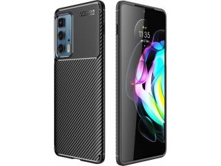 Motorola Edge 20 Pro Carbon Design Hülle TPU Case flexibel schwarz