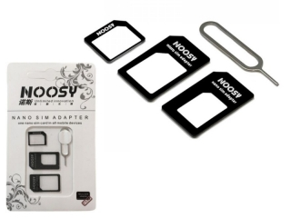 Nano Simkarte Adapter und Micro Simkarten Adapter Noosy 4-in-1 Set