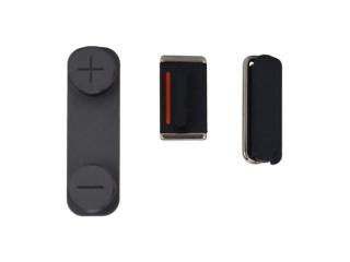 iPhone 5 Button Set Power / Mute / Volume - Graphit Schwarz