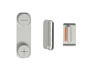 iPhone 5 Button Set Power / Mute / Volume - Silber