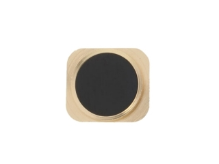 iPhone 5 Home Button Knopf im iPhone 5S Look - Schwarz / Gold