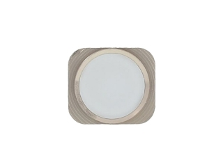 iPhone 5 Home Button Knopf im iPhone 5S Look - Weiss / Silber
