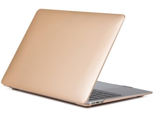 "MacBook Air 13"" Schutzh�lle - Matt Case - Gold transparent - SmartShell-H�lle Snap-On Etui"