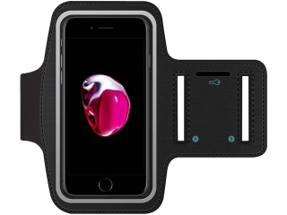 iPhone 8/7/6/6S Sport Fitness Trainings Armband Schutzhülle - Schwarz