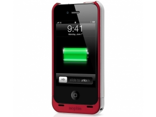 Mophie Juice Pack Air - Aufladbares iPhone 4 / 4S Cover in rot (PRODUCT) RED