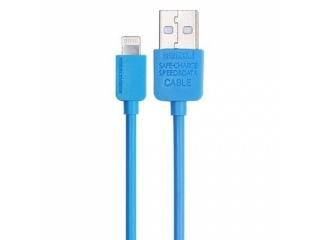 REMAX iPhone 7 / 8 Lightning High Speed Charge & Sync USB Kabel blau