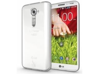 LG G2 Thin Clear Schutzhülle Cover Gummi transparent durchsichtig