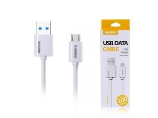 REMAX MicroUSB zu USB Ladekabel weiss für Samsung, HTC, Xperia, LG