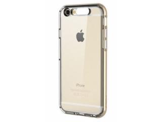 ROCK iPhone 6 Plus Gummi H�lle mit LED Blitz Bumper Light Tube - Transparent / Gold mit Licht bei Anruf / SMS