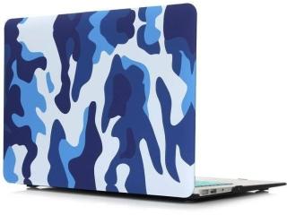 "MacBook Air 13"" Schutzh�lle - Army Camouflage Military Case blau - SmartShell-H�lle Snap-On Etui"