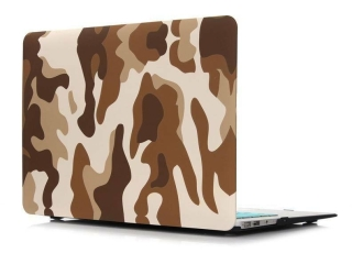 """MacBook Air 13"""" Schutzh�lle - Army Camouflage Military Case braun - SmartShell-H�lle Snap-On Etui"""