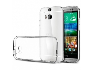 HTC One M9 Ultra Thin Crystal Case Schutzh�lle Cover aus Gummi - transparent clear durchsichtig flexibel