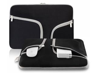 """Neoprene MacBook Sleeve 15"""" Slim Soft Hülle Tasche für 15 Zoll Schwarz"""