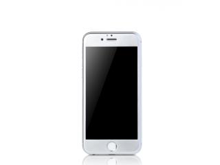 REMAX iPhone 6/6S Plus iVisor Panzerglas Folie + Rahmen in Silber