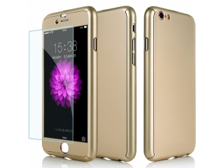 360 Grad Panzerglas Case iPhone 6/6S superdünner Rundumschutz Gold
