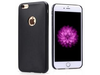 Ultra dünne Leder Hülle für iPhone 6S Plus Schwarz Slim Apple Case