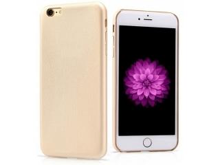 Ultra dünne Leder Hülle für iPhone 6S Plus in Gold - Slim Leather Case