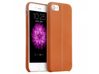 USAMS iPhone 8 Leder Schutzhülle Joe Series Slim Leather Case Braun