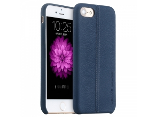 USAMS iPhone 7 Plus Leder Schutzhülle Joe Series Leather Case Blau
