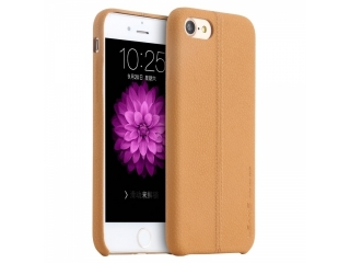 USAMS iPhone 8 Plus Leder Schutzhülle Joe Series Leather Case Beige