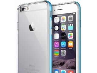 iPhone 8 Bumper Hülle Soft TPU Case mit hartem Rahmen - hellblau