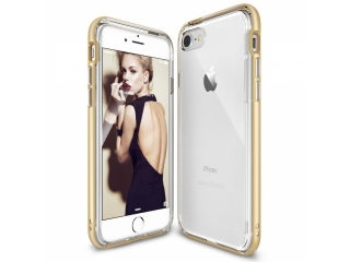 iPhone 8 Bumper Hülle Soft TPU Case mit hartem Rahmen - Gold