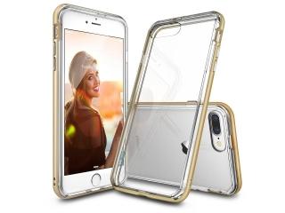iPhone 8 Plus Bumper Hülle Soft TPU Case mit hartem Rahmen - gold