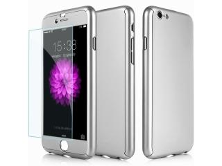 360 Grad Panzerglas Case iPhone 7 superdünner Rundumschutz Silber