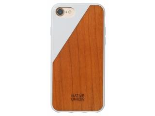 Native Union Clic Wooden V2 Hardcase für iPhone 8 Kirschen Holz weiss