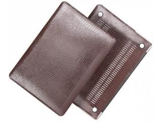 """Smartshell-Case mit Krokodil Leder Optik für MacBook 12"""" in braun"""
