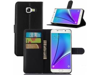 Ledertasche für Samsung Galaxy C7 Portemonnaie & Karten Hülle schwarz